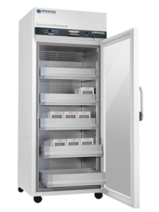 Spacecode Freezer FID-enabled for blood bank inventory management and track-and-trace